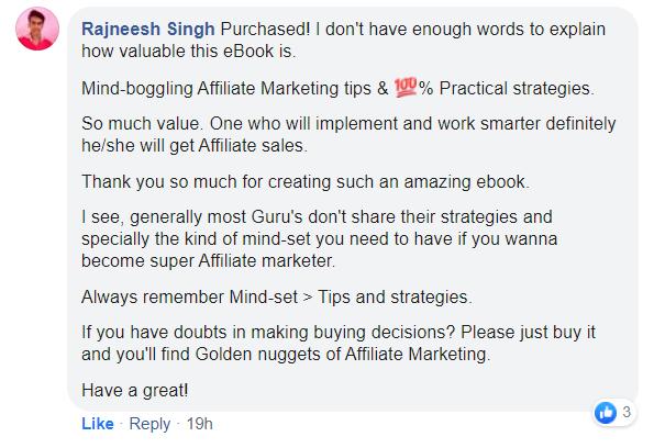 Ranjeesh Sing FB Testimonial